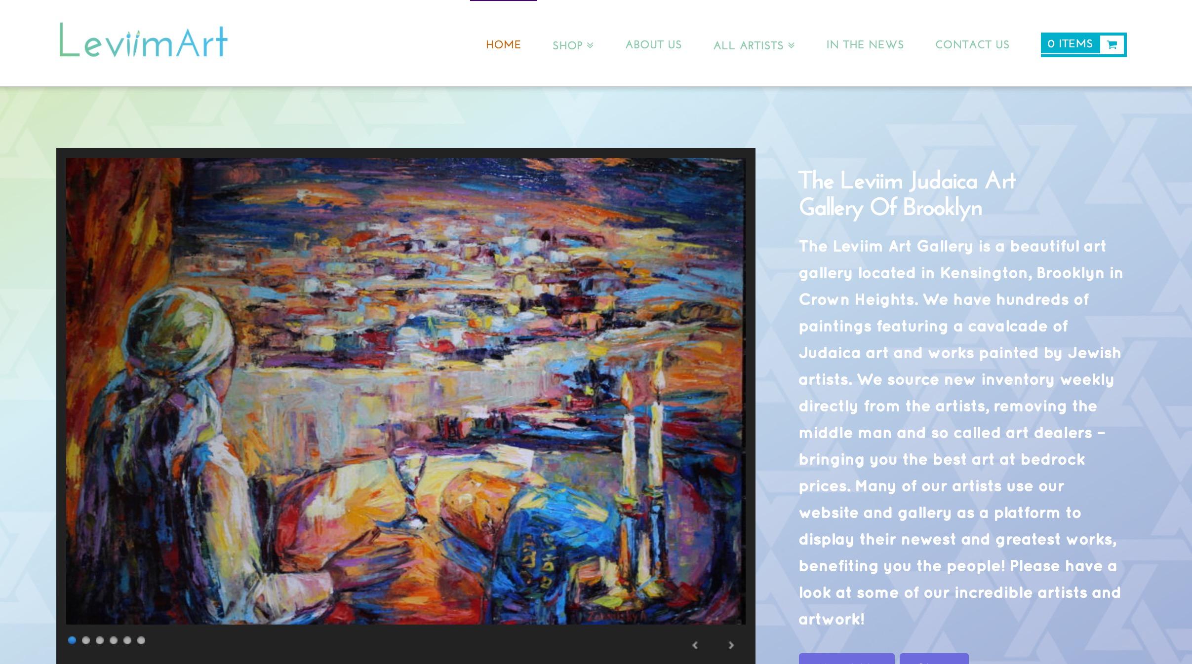 Leviim Judaica Art Gallery of Brooklyn